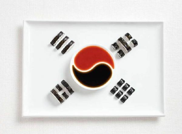 Corea del Sur a partir de Kimbap y salsas.