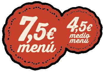 Menú y Medio menú